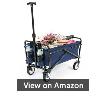 best-garden-cart-YSC Wagon Garden Folding Utility Shopping Cart