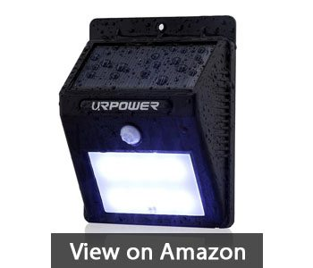 Ur Solar Lights 8 Led Wireless Waterproof Motion Sensor Outdoor Light For Patio Deck Yard Garden With Activated Auto On Off 4 Pack