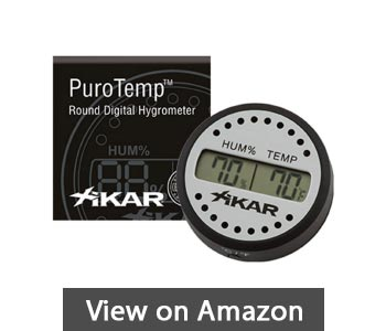 best-hygrometers-reviews-Xikar-Round-Digital-Hygrometer