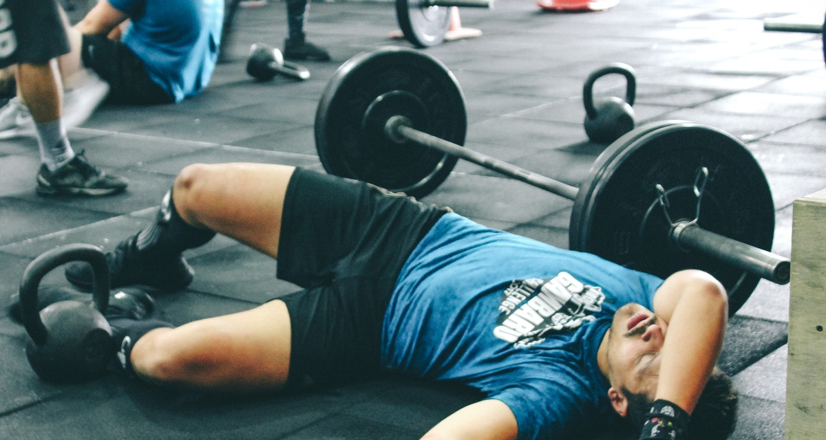 Crossfit Jokes: Man Lying on the floor